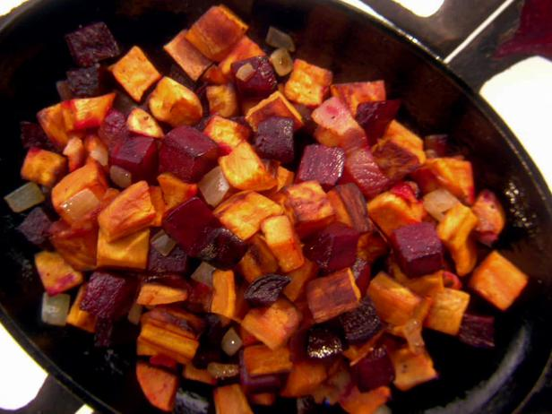Sweet Potato and Beet Hash