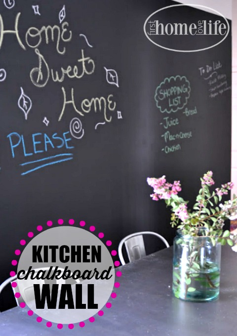 kitchen-chalkboard-wall-using-chalkboard-paint-inexpensive-kitchen-update-via-firsthomelovelife-com