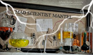 Halloween Mad Scietist Mantle