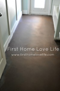 Concrete Floors Dont Cry Over Spilt Paint First Home