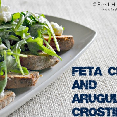 Arugula and Feta Crostinis