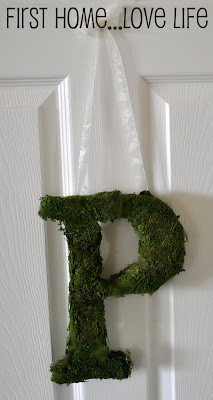 Moss Covered Initial