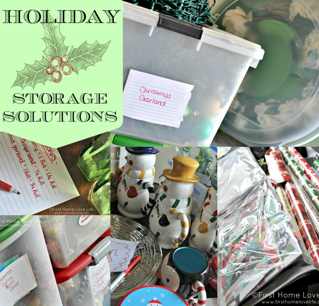 holiday decoration storage ideas first home love life
