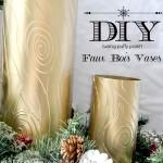 DIY Gold Faux Bois Vases