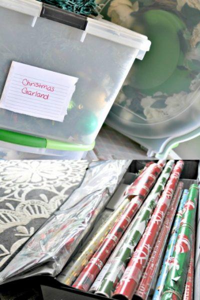 Holiday Decoration Storage Ideas