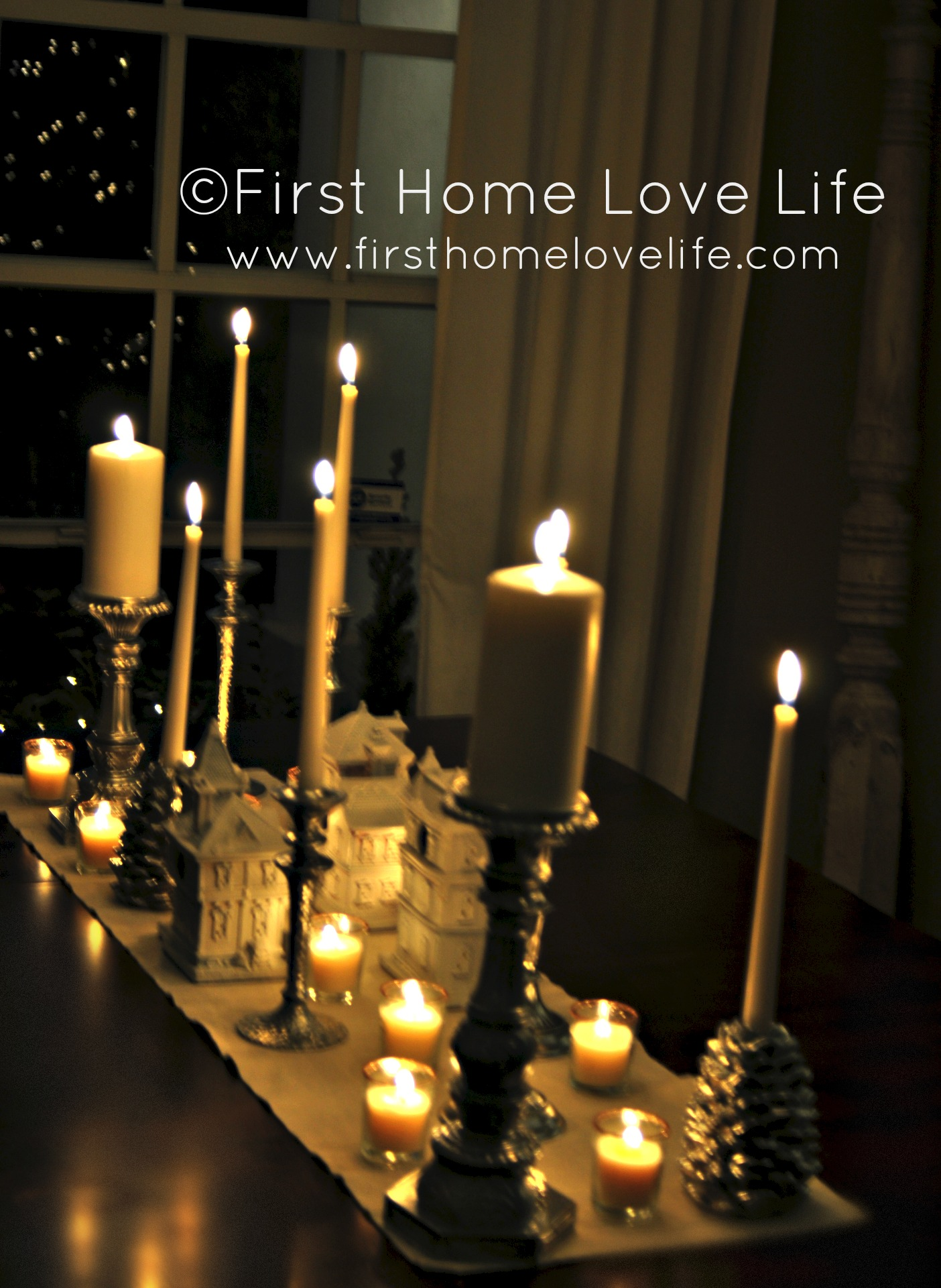 Quot Silver Bells Quot Inspired Candlescape Table First Home Love Life