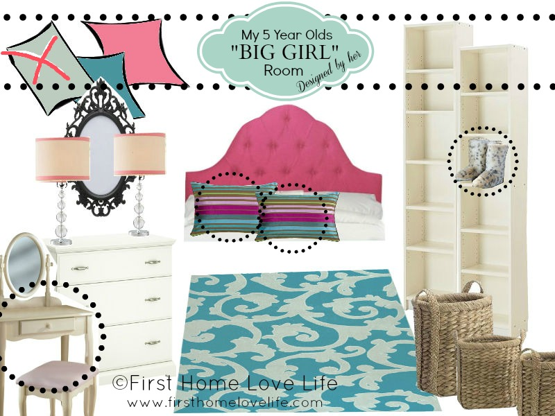 "Little Girl's ""Big Girl"" Bedroom - First Home Love Life"