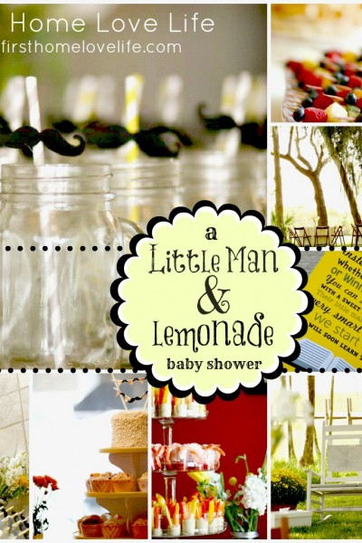 "A ""Little Man"" and Lemonade Baby Shower"