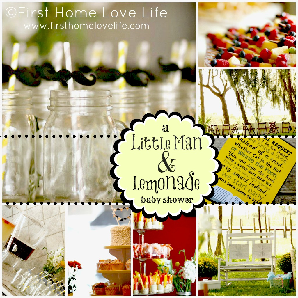 little man and lemonade baby shower first home love life