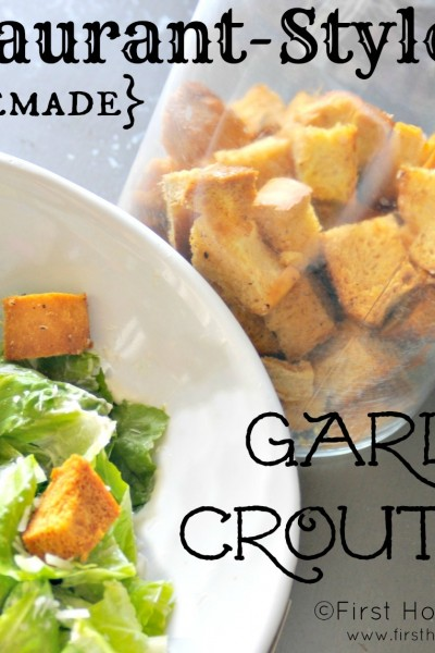 Homemade Garlic Croutons {Restaurant Style}