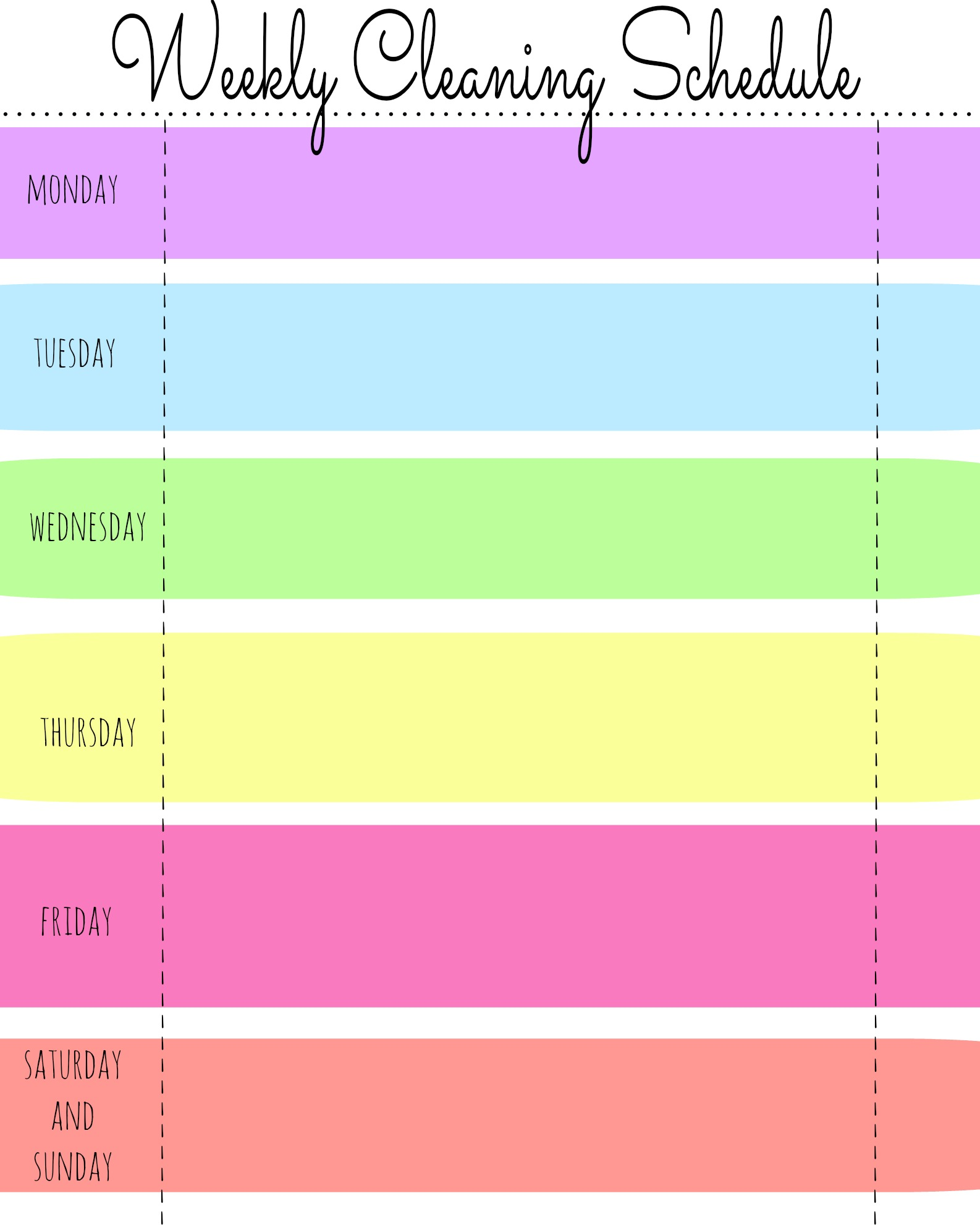 Weekly Schedule Template For Kids Zrom