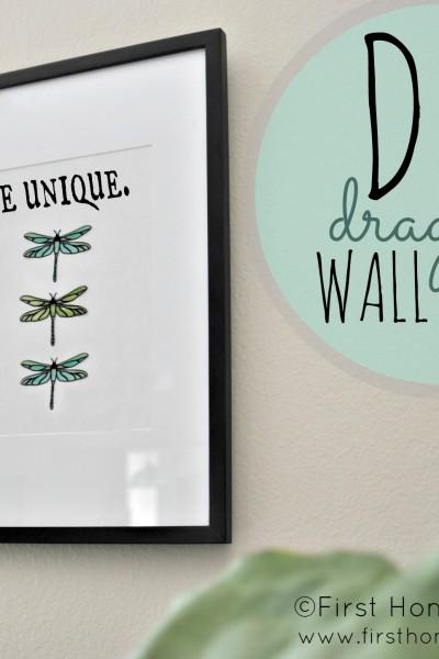 DIY Dragonfly Wall Art