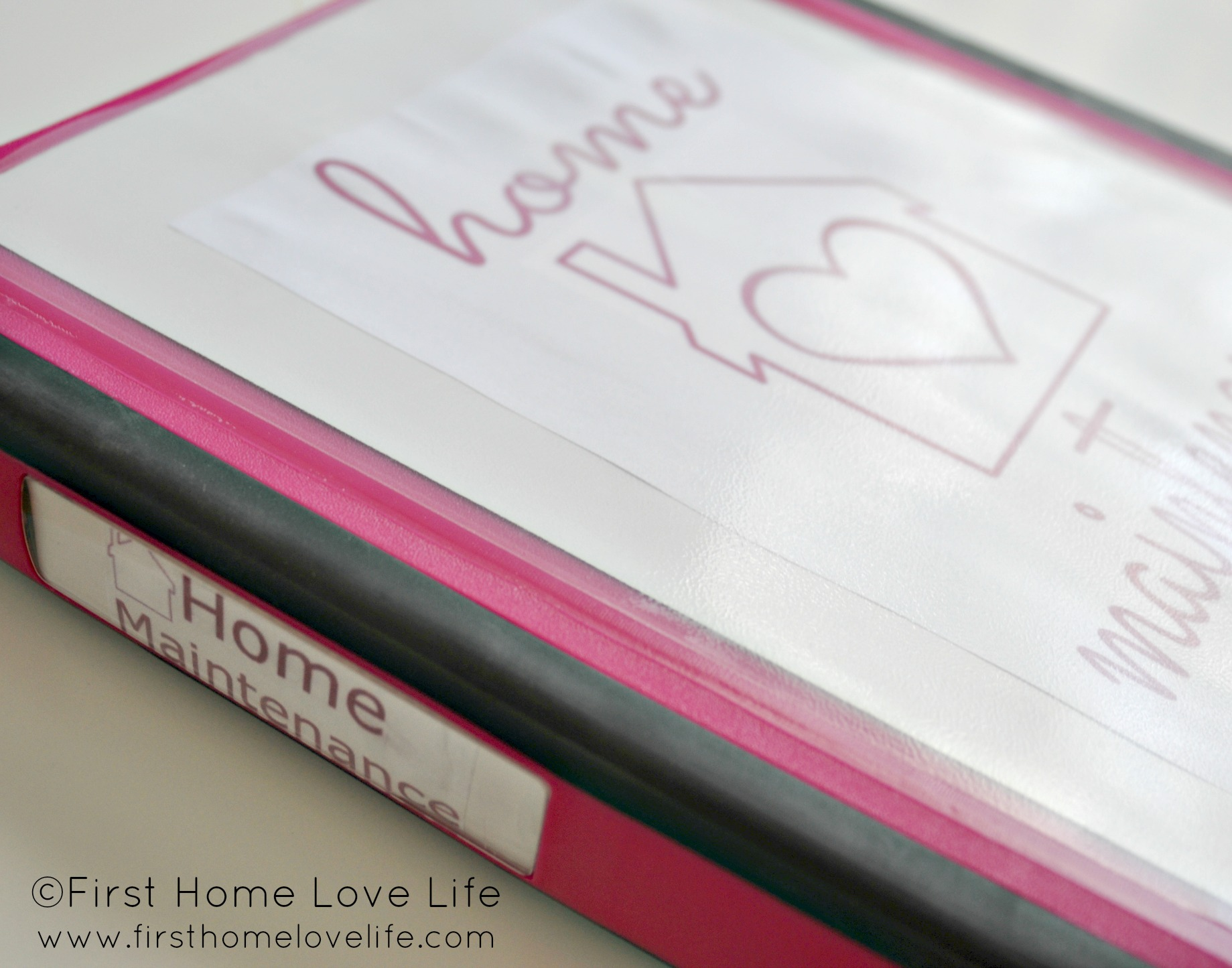 Learning to be Organized | Home Maintenance Binder - First Home Love ...