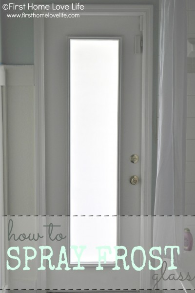 How to Spray Frost a Glass Door for Privacy