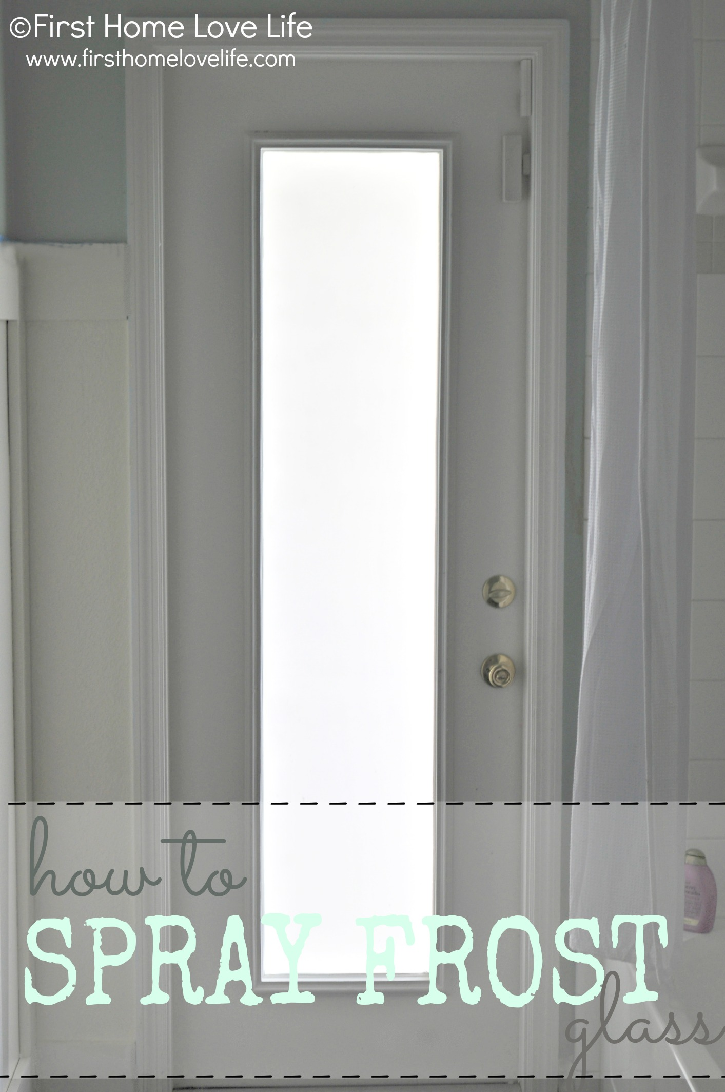 frostedglassdoor & How to Spray Frost a Glass Door for Privacy - First Home Love Life Pezcame.Com