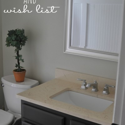 Guest Bathroom Progress and Wishlist
