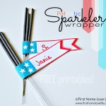 Patriotic Sparkler Wrapper Printables