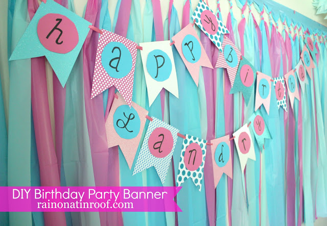 DIY Birthday Party Banner 6