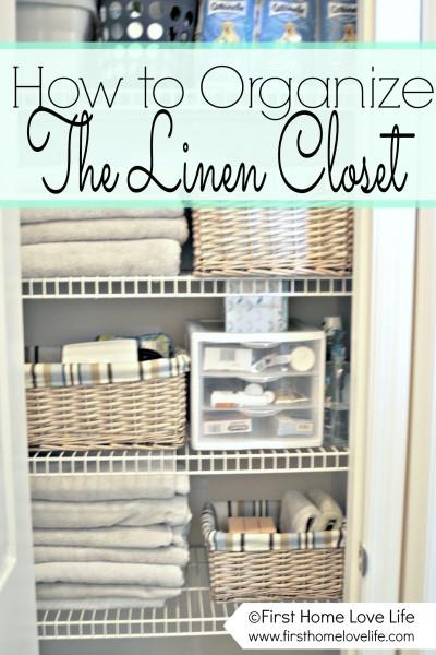 Linen Closet Organization and Closet Pharmacy