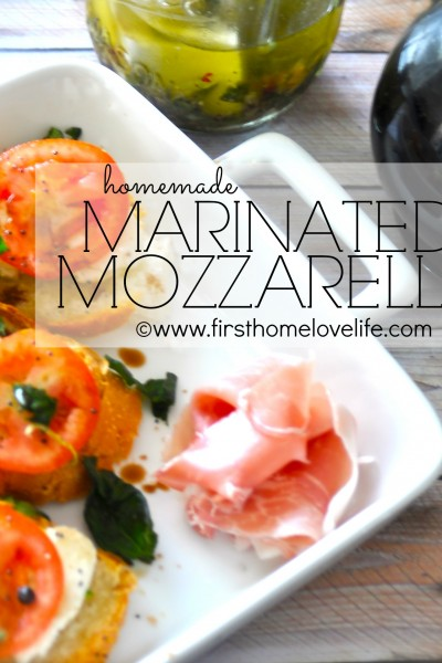 Homemade Marinated Mozzarella Recipe