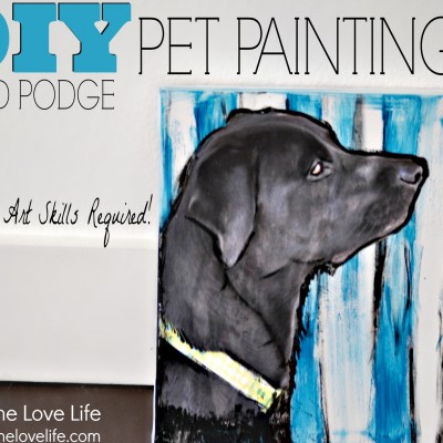Paint Your Own Pet Portrait Using Mod Podge