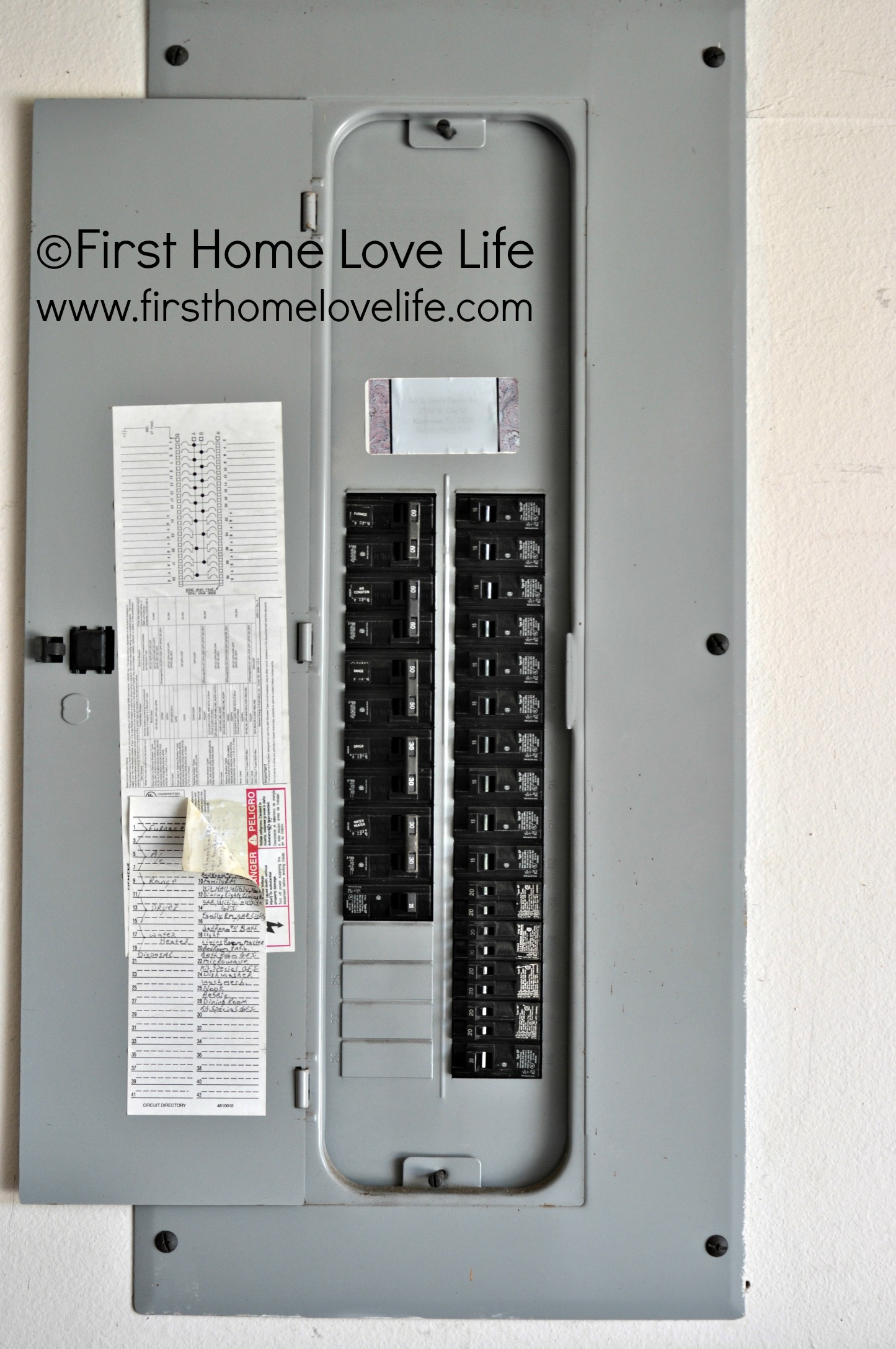 Color Coding Your Circuit Breaker Box - First Home Love Life