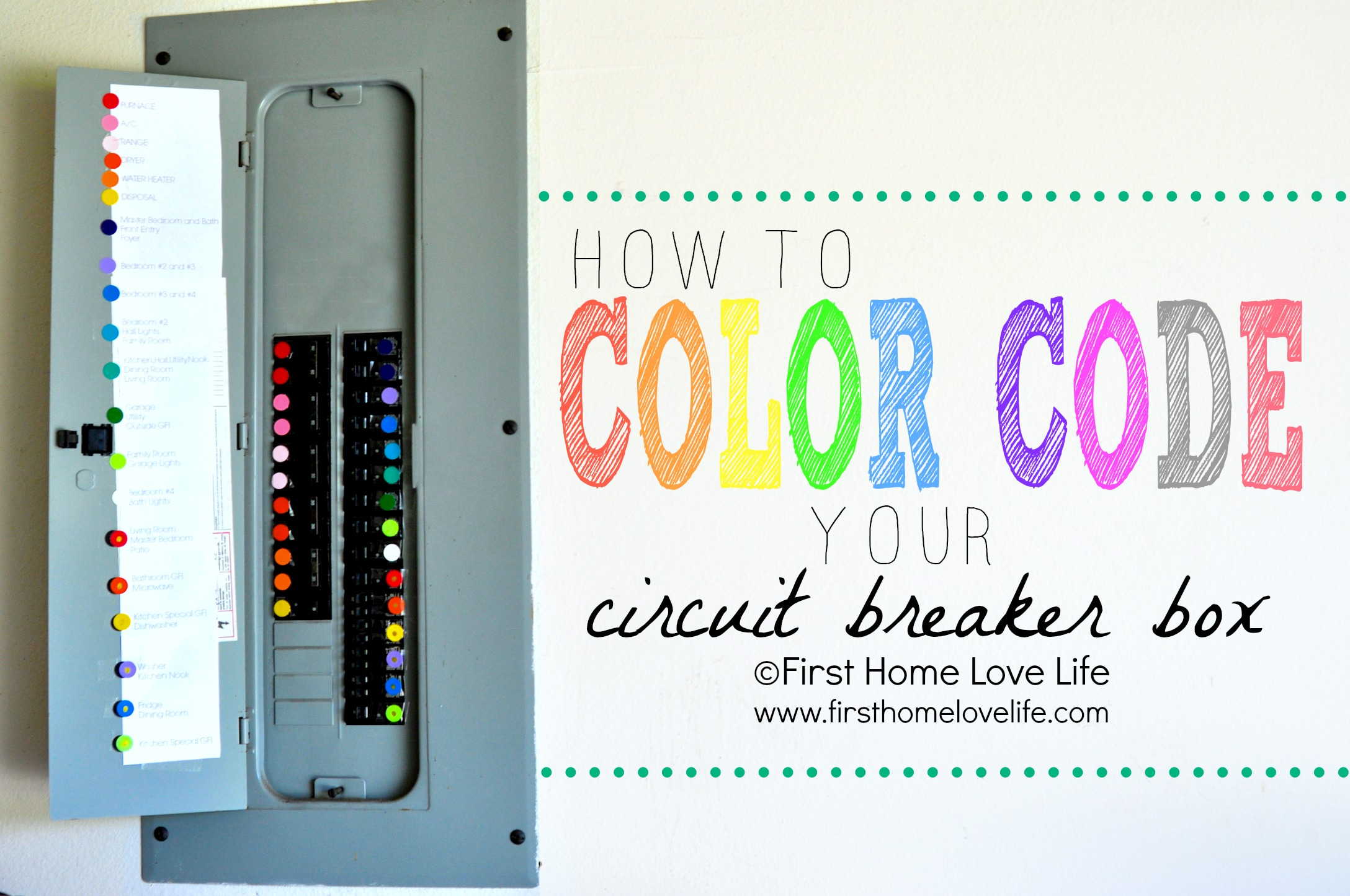 color_coded_circuit_breaker_cover color coding your circuit breaker box first home love life House Fuse Box Replacement at alyssarenee.co
