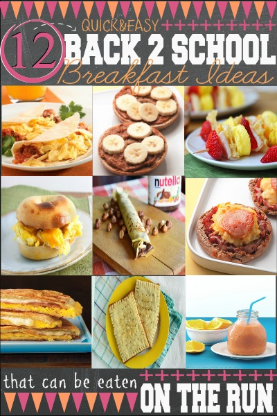 Backtoschool Breakfast Ideas