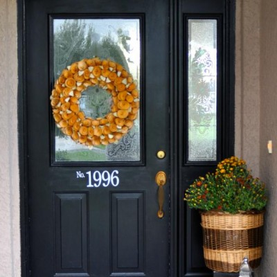 A Simple Fall Front Door