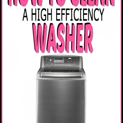 How to Clean a High Efficiency Washer