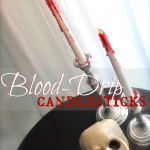 """Bloody"" Candle Halloween Decorations"