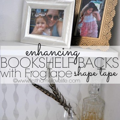 Painting a Bookshelf with FrogTape Shape Tape