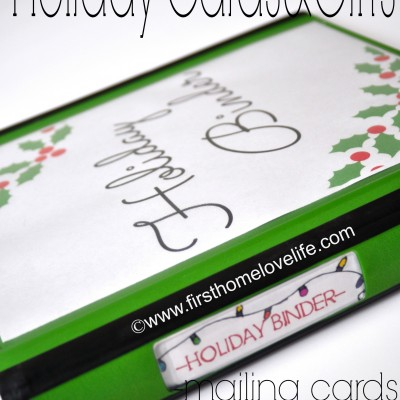 Holiday Organization Binder {part 2}