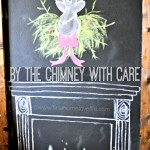 Christmas Chalkboard Fireplace
