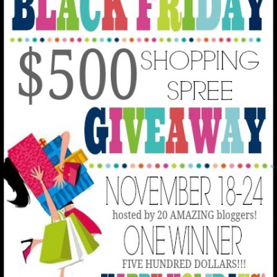 $500 Black Friday Shopping Spree Giveaway