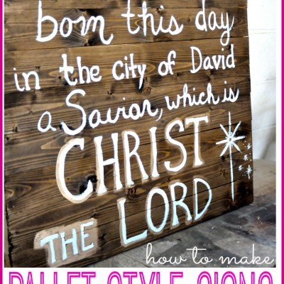 Wood Pallet Style Christmas Sign