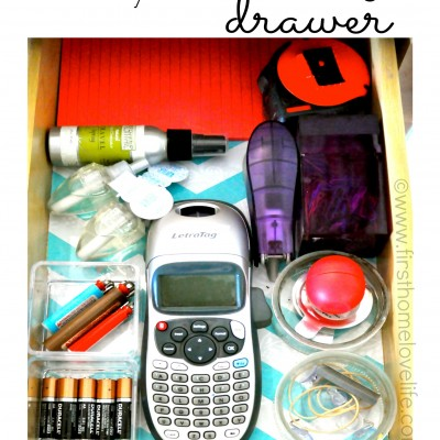 The NO JUNK Drawer Organization