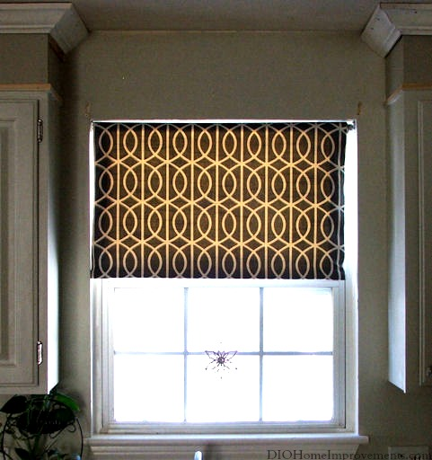 Fabric Roller Shades : Diy fabric roller shade first home love life