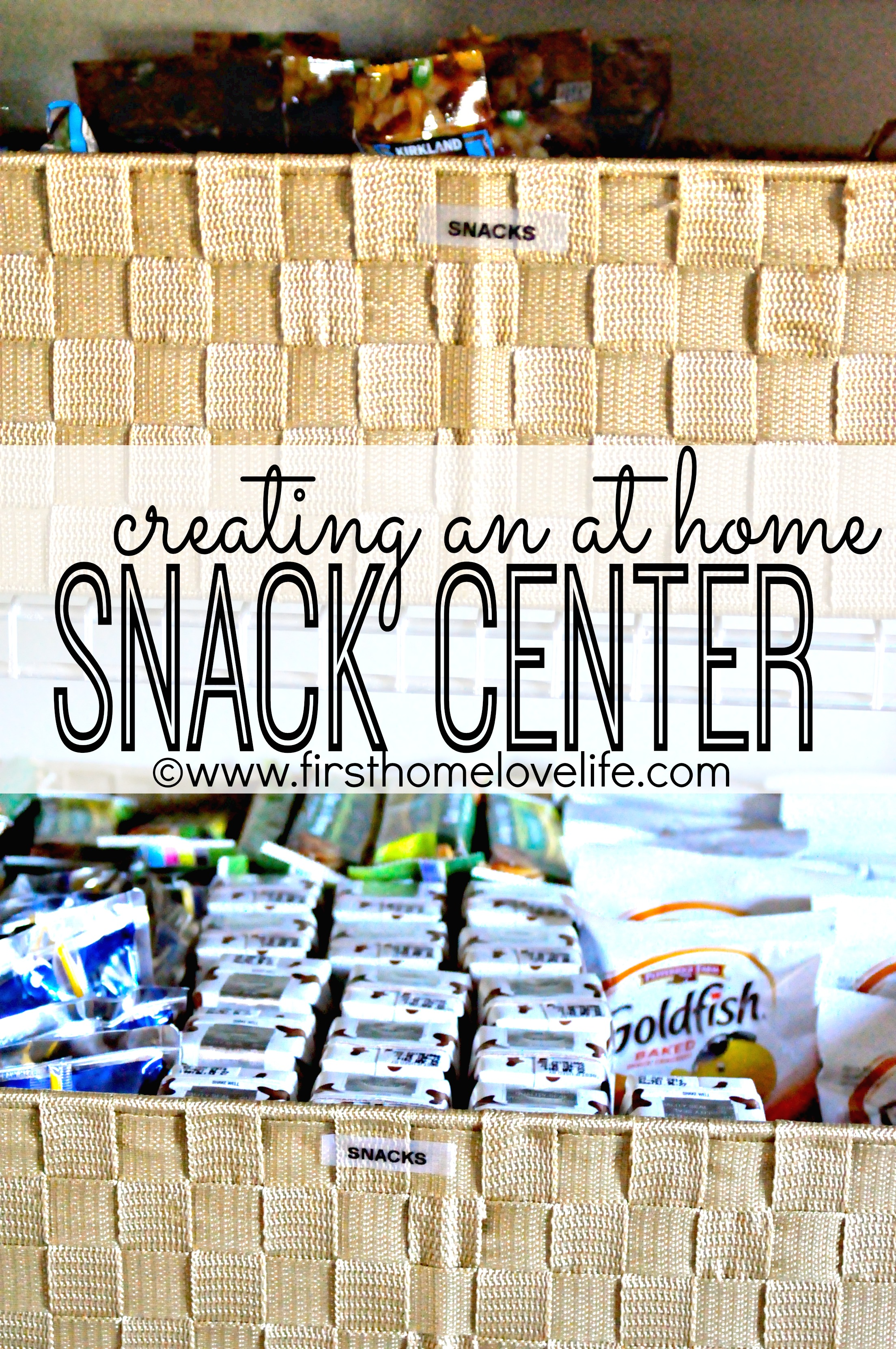 Home snack center - Find A Way To Keep All Snack Items Together In A Way That Was Easy For The Kids To Help Themselves The Easiest Solution To This Was To Utilize