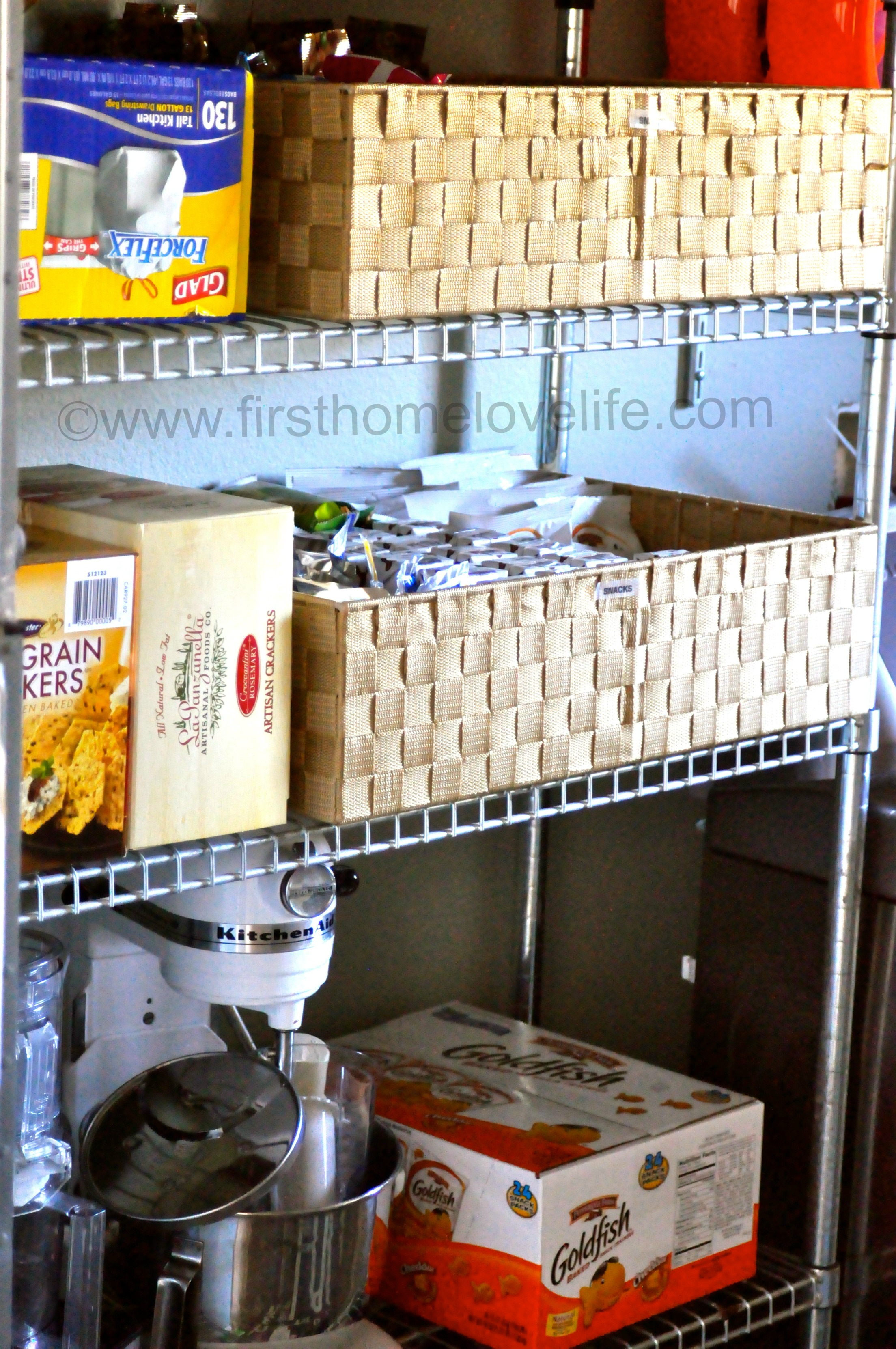 Home snack center - We ve had this metal shelving thing forever it s from ikea and i want to say it was around forty dollars when we lived in our rental it acted as our main