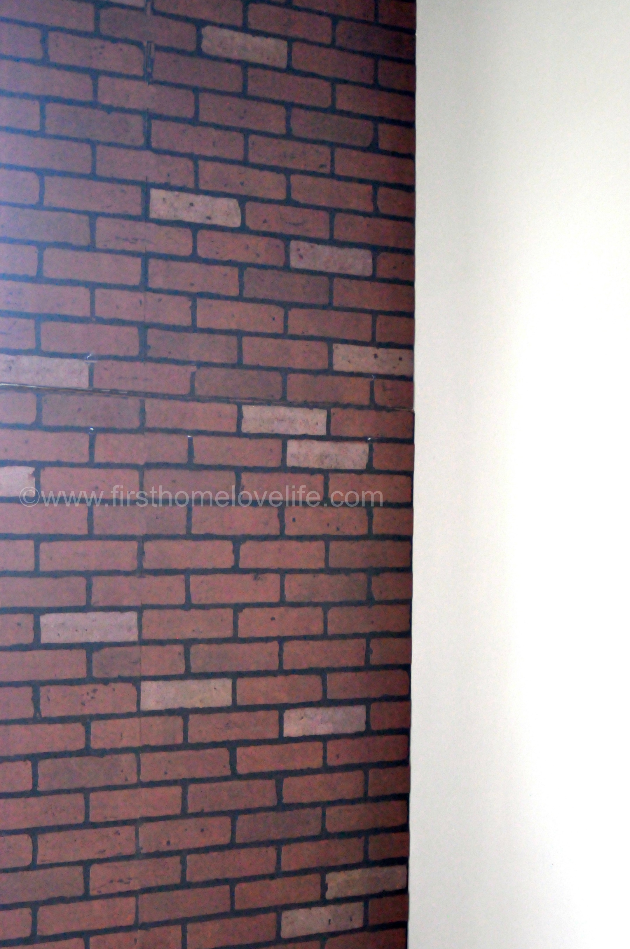 Faux brick ifying first home love life - Artificial brick wall panels ...