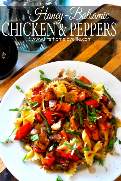 Honey Balsamic Chicken and Peppers