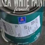 Finally! The perfect color matched formula for IKEA white paint! Perfect for touching up those Billy bookcases and Expedit systems! www.firsthomelovelife.com #diy #ikea #paint