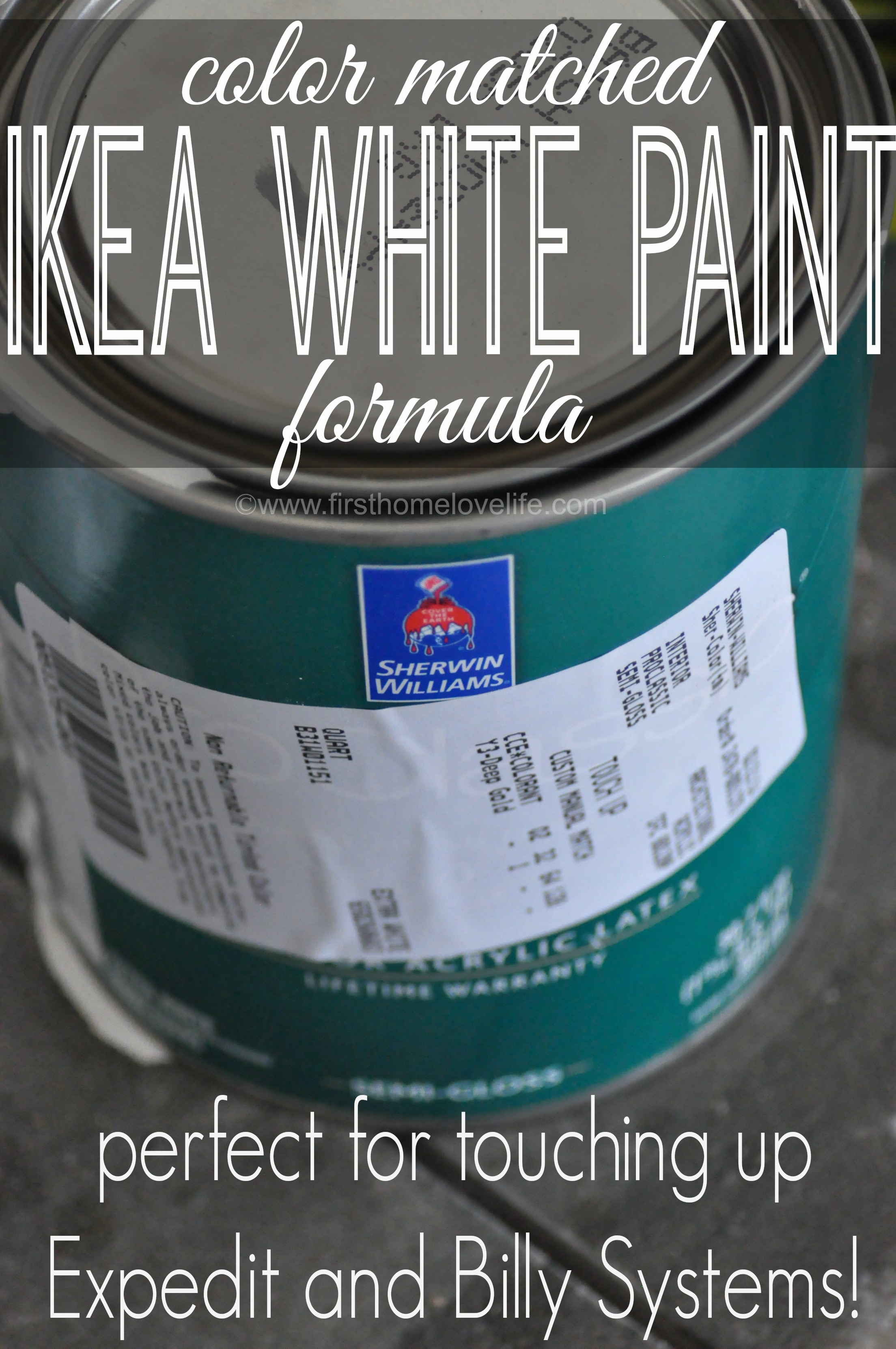 Ikea white paint cabinets first home love life for Paint color match