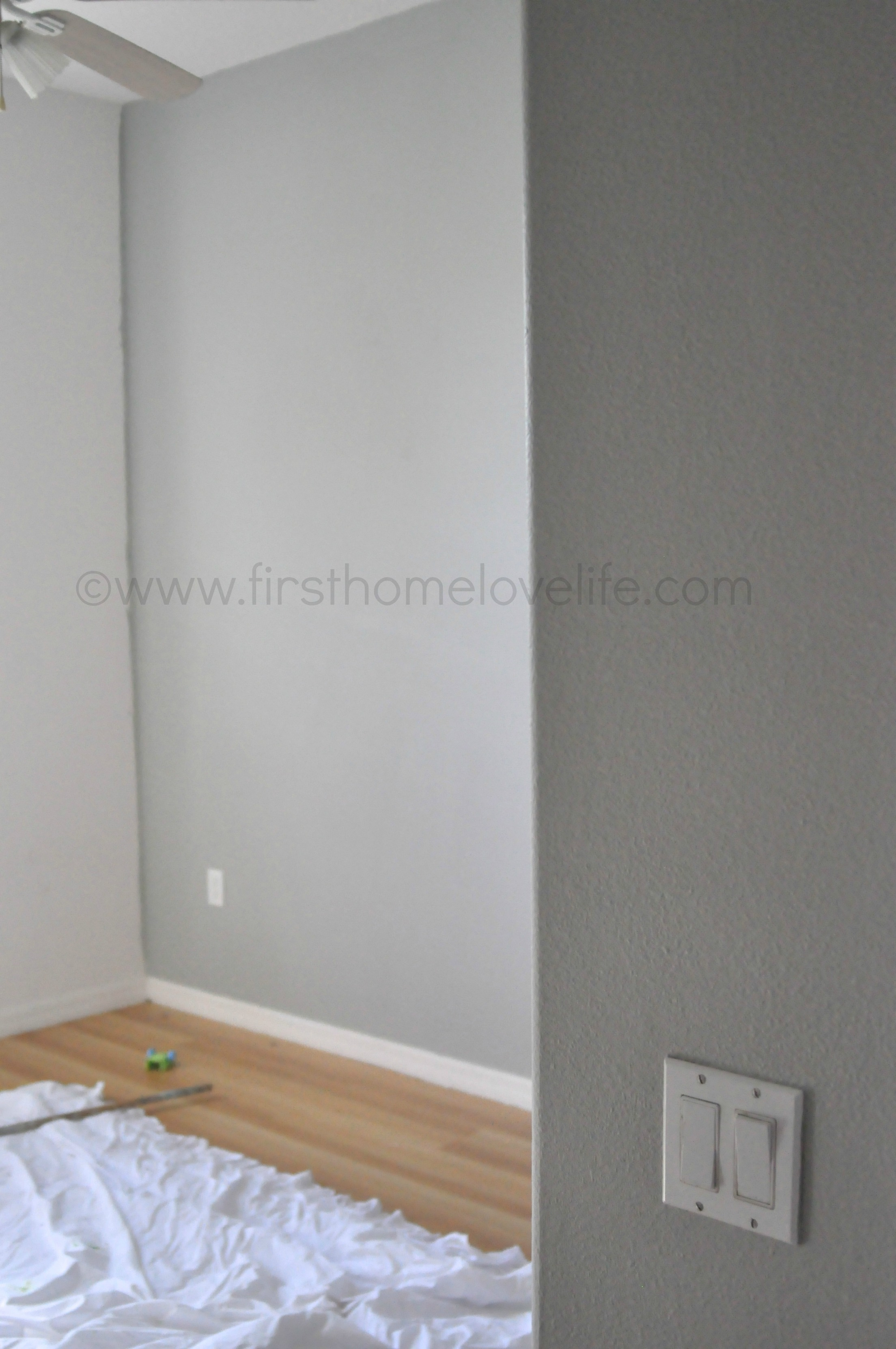 The 50 shades of gray paint first home love life Touch of grey benjamin moore