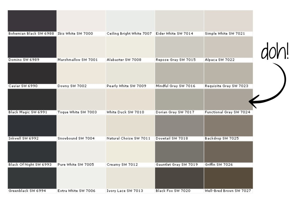 The 50 shades of gray paint first home love life Shades of grey interior paint