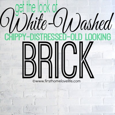 White Brick Accent Wall