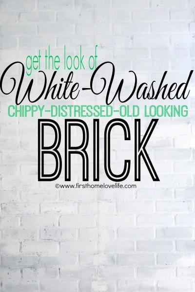 White Brick Accent Wall