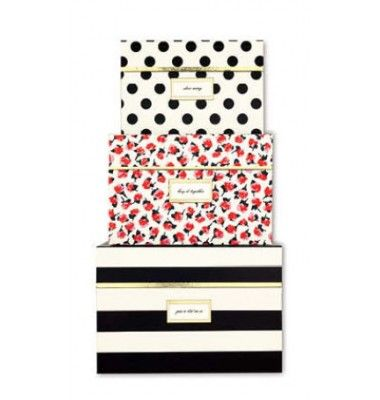 Kate Spade inspired storage boxes to hide away all of those loose office items!