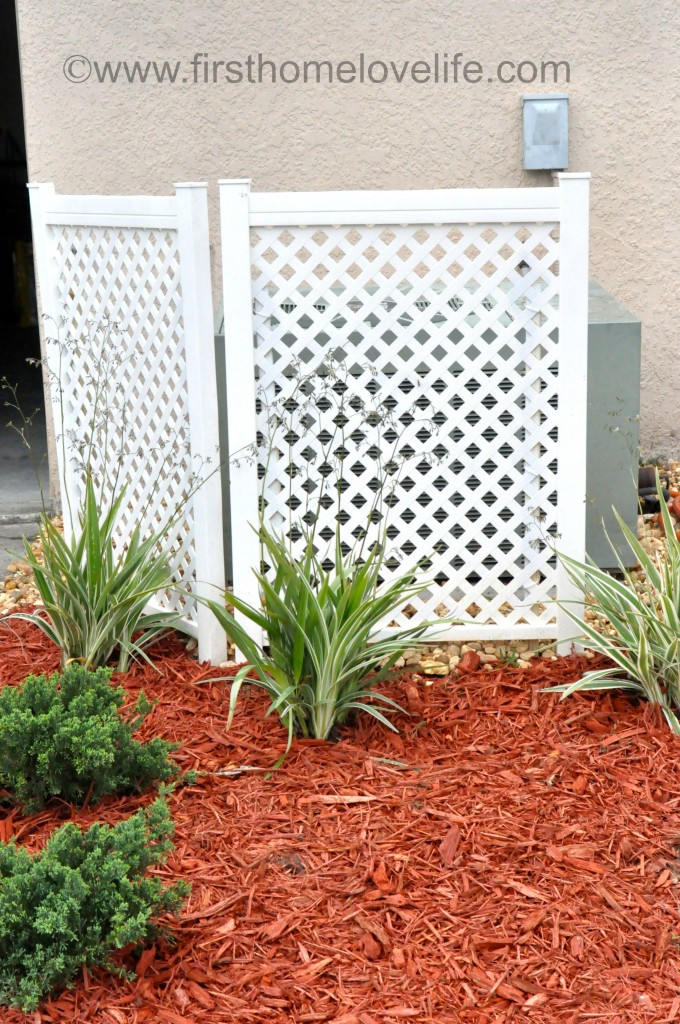 Covering up an AC unit outside will boost your curb appeal like you wouldn't believe, and it may even help the unit itself run more efficiently!
